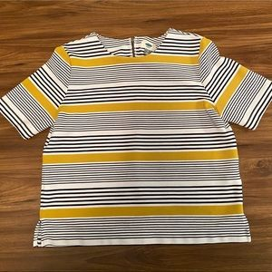 Old Navy | Navy and yellow striped top